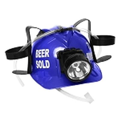 Click to get Beer Sold To Miners Lighted Drinking Helmet Blue