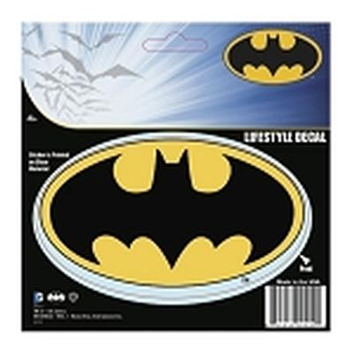 Click to get Batman Logo Car Sticker Mustard and Black